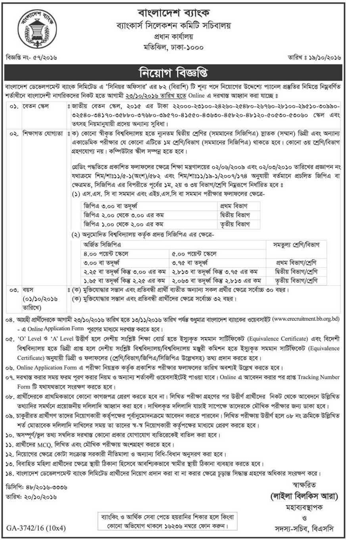 job circular senior officer development bank_epathagar.com